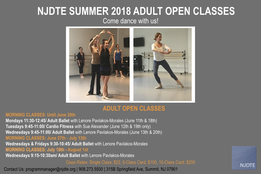 2018 Summer Adult Open Classes FINAL 6.7.18