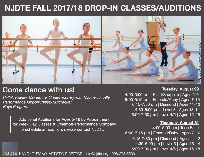Fall Class Drop in and Auditions